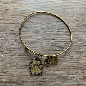 Alex and ani gold paw print bangle bracelet